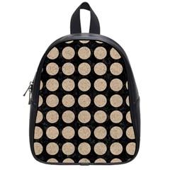 Circles1 Black Marble & Sand (r) School Bag (small) by trendistuff