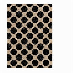 Circles2 Black Marble & Sand Large Garden Flag (two Sides) by trendistuff