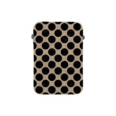 Circles2 Black Marble & Sand Apple Ipad Mini Protective Soft Cases by trendistuff