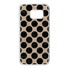 Circles2 Black Marble & Sand Samsung Galaxy S7 White Seamless Case by trendistuff
