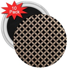 Circles3 Black Marble & Sand (r) 3  Magnets (10 Pack)  by trendistuff