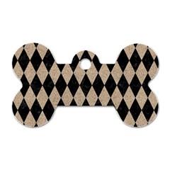 Diamond1 Black Marble & Sand Dog Tag Bone (one Side) by trendistuff