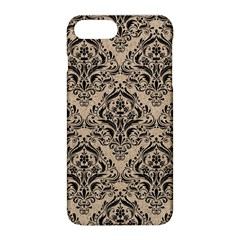 Damask1 Black Marble & Sand Apple Iphone 8 Plus Hardshell Case