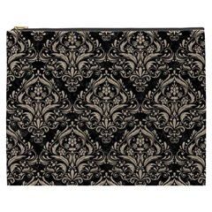 Damask1 Black Marble & Sand (r) Cosmetic Bag (xxxl)  by trendistuff