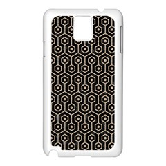 Hexagon1 Black Marble & Sand (r) Samsung Galaxy Note 3 N9005 Case (white)