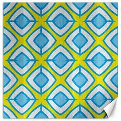 Blue Rhombus Pattern                                Canvas 12  X 12  by LalyLauraFLM