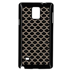Scales1 Black Marble & Sand (r) Samsung Galaxy Note 4 Case (black)
