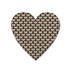 Scales3 Black Marble & Sand Heart Magnet by trendistuff
