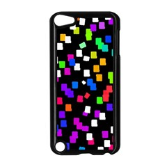 Colorful Rectangles On A Black Background                           Apple Ipad Mini Case (white) by LalyLauraFLM