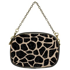 Skin1 Black Marble & Sand Chain Purses (two Sides)  by trendistuff