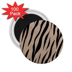 Skin3 Black Marble & Sand 2 25  Magnets (100 Pack)  by trendistuff