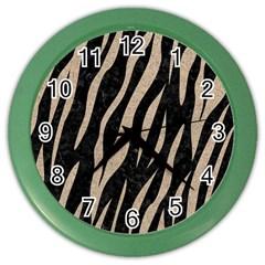 Skin3 Black Marble & Sand (r) Color Wall Clocks by trendistuff