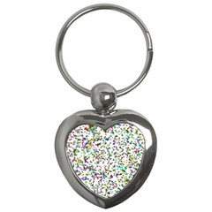 Paint On A White Background                                  Key Chain (heart) by LalyLauraFLM