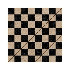 Square1 Black Marble & Sand Acrylic Tangram Puzzle (6  X 6 ) by trendistuff