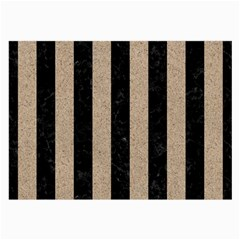Stripes1 Black Marble & Sand Large Glasses Cloth by trendistuff