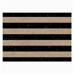 Stripes2 Black Marble & Sand Large Glasses Cloth by trendistuff