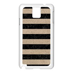 Stripes2 Black Marble & Sand Samsung Galaxy Note 3 N9005 Case (white)