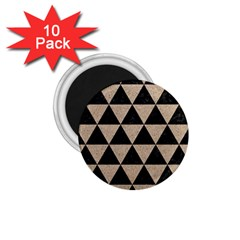 Triangle3 Black Marble & Sand 1 75  Magnets (10 Pack)  by trendistuff