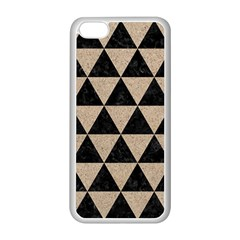 Triangle3 Black Marble & Sand Apple Iphone 5c Seamless Case (white) by trendistuff