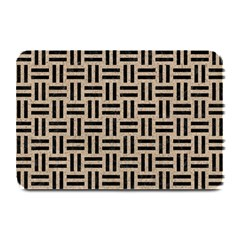 Woven1 Black Marble & Sand Plate Mats by trendistuff