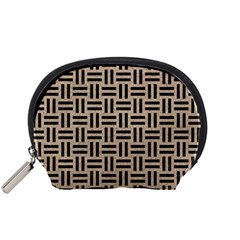 Woven1 Black Marble & Sand Accessory Pouches (small)  by trendistuff