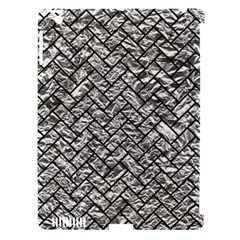 Brick2 Black Marble & Silver Foil Apple Ipad 3/4 Hardshell Case (compatible With Smart Cover) by trendistuff