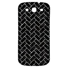 Brick2 Black Marble & Silver Foil (r) Samsung Galaxy S3 S Iii Classic Hardshell Back Case by trendistuff