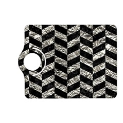 Chevron1 Black Marble & Silver Foil Kindle Fire Hd (2013) Flip 360 Case by trendistuff