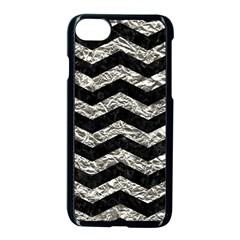 Chevron3 Black Marble & Silver Foil Apple Iphone 8 Seamless Case (black) by trendistuff