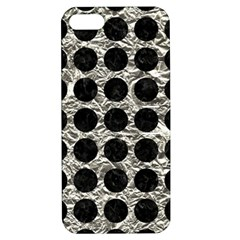 Circles1 Black Marble & Silver Foil Apple Iphone 5 Hardshell Case With Stand by trendistuff