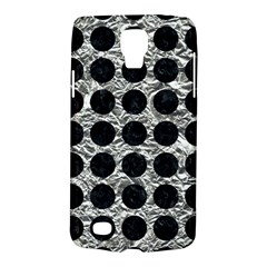 Circles1 Black Marble & Silver Foil Galaxy S4 Active by trendistuff