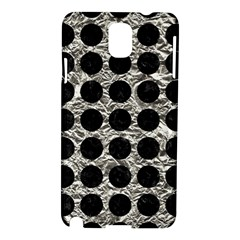 Circles1 Black Marble & Silver Foil Samsung Galaxy Note 3 N9005 Hardshell Case by trendistuff