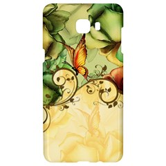 Wonderful Flowers With Butterflies, Colorful Design Samsung C9 Pro Hardshell Case  by FantasyWorld7