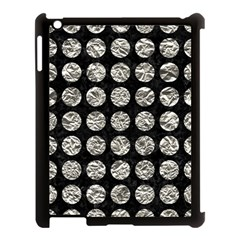 Circles1 Black Marble & Silver Foil (r) Apple Ipad 3/4 Case (black) by trendistuff