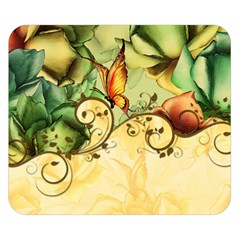 Wonderful Flowers With Butterflies, Colorful Design Double Sided Flano Blanket (small)  by FantasyWorld7