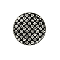 Circles2 Black Marble & Silver Foil (r) Hat Clip Ball Marker (4 Pack) by trendistuff