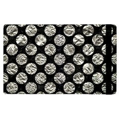 Circles2 Black Marble & Silver Foil (r) Apple Ipad 3/4 Flip Case by trendistuff