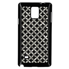 Circles3 Black Marble & Silver Foil (r) Samsung Galaxy Note 4 Case (black) by trendistuff