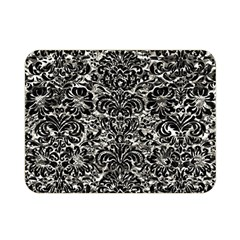 Damask2 Black Marble & Silver Foil Double Sided Flano Blanket (mini)  by trendistuff
