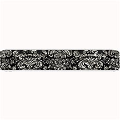 Damask2 Black Marble & Silver Foil (r) Small Bar Mats by trendistuff