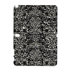 Damask2 Black Marble & Silver Foil (r) Galaxy Note 1 by trendistuff