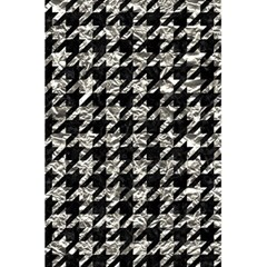 Houndstooth1 Black Marble & Silver Foil 5 5  X 8 5  Notebooks by trendistuff