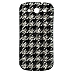 Houndstooth1 Black Marble & Silver Foil Samsung Galaxy S3 S Iii Classic Hardshell Back Case by trendistuff