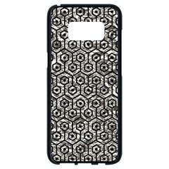 Hexagon1 Black Marble & Silver Foil Samsung Galaxy S8 Black Seamless Case by trendistuff