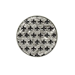 Royal1 Black Marble & Silver Foil (r) Hat Clip Ball Marker by trendistuff