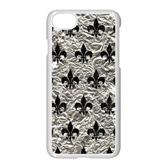 Royal1 Black Marble & Silver Foil (r) Apple Iphone 8 Seamless Case (white)