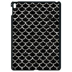 Scales1 Black Marble & Silver Foil (r) Apple Ipad Pro 9 7   Black Seamless Case
