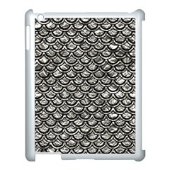 Scales2 Black Marble & Silver Foil Apple Ipad 3/4 Case (white) by trendistuff