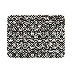Scales2 Black Marble & Silver Foil Double Sided Flano Blanket (mini)  by trendistuff