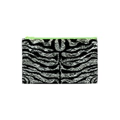 Skin2 Black Marble & Silver Foil Cosmetic Bag (xs) by trendistuff